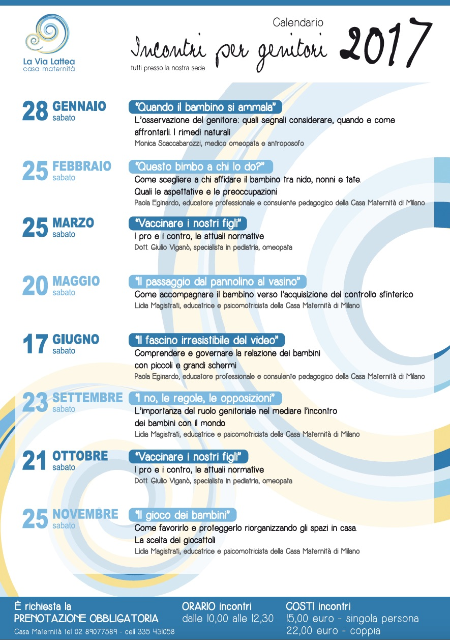 Calendario Maternita.Incontri A Tema Per Genitori Casa Maternita